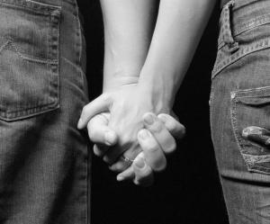teens hand holding