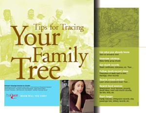 tips for tracing your family history